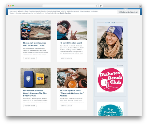Dizzy WordPress blog theme - mein-diabetes-blog.com