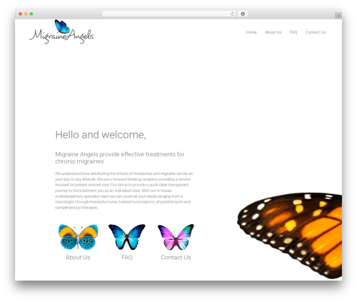 DMS WordPress theme - migraineangels.com