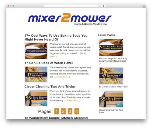 Dynamik-Gen theme WordPress - mixer2mower.com