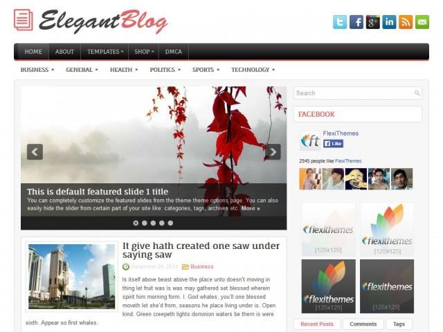 ElegantBlog WordPress blog template