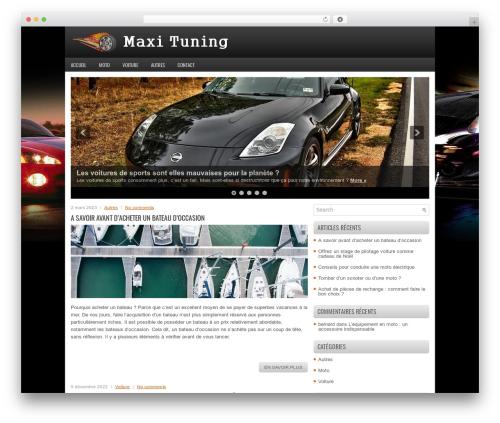 FastCar WordPress theme - maxi-tuning.fr