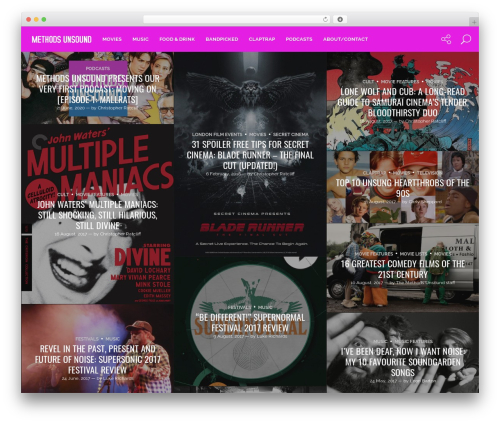 Genie food WordPress theme - methodsunsound.com