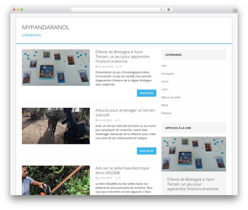 MH Edition lite theme WordPress free - mypandaranol.com