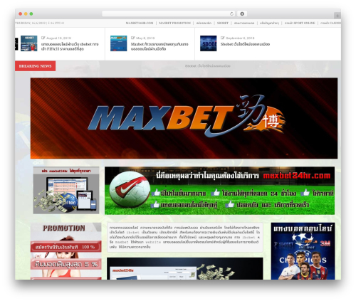 News Maxx - Lite best WordPress template - maxbet24hr.com