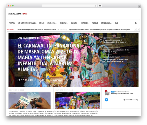 Newspeak newspaper WordPress theme - maspalomasnews.com