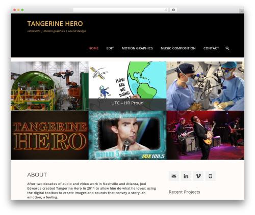Parallax Frame best free WordPress theme - tangerinehero.com
