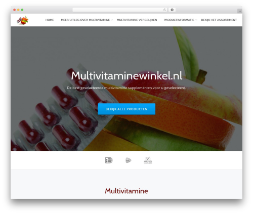 Parallax One WordPress page template - multivitaminewinkel.nl