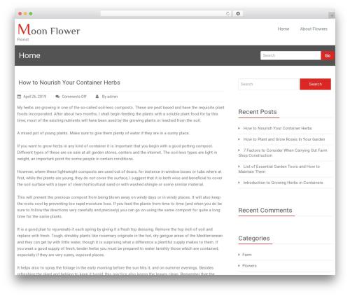 Rambo free WordPress theme - moonflower.ca
