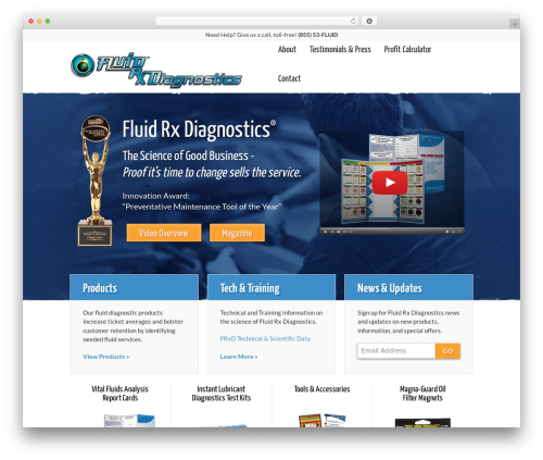 Responsive WordPress theme - fluidrxdiagnostics.com