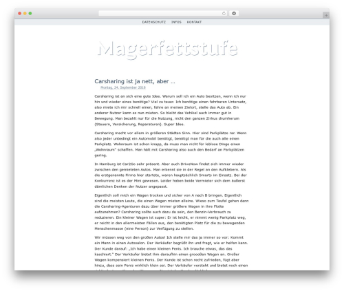 Simplr WordPress page template - magerfettstufe.de
