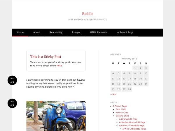 Template WordPress Reddle Child