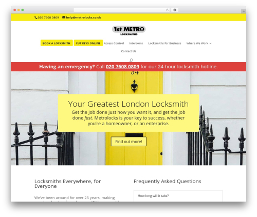 Theme WordPress Divi - metrolocks.co.uk
