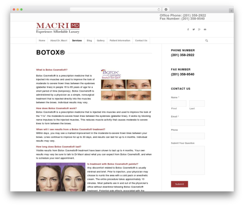 Theme WordPress Enfold - mymdaesthetics.com/botox