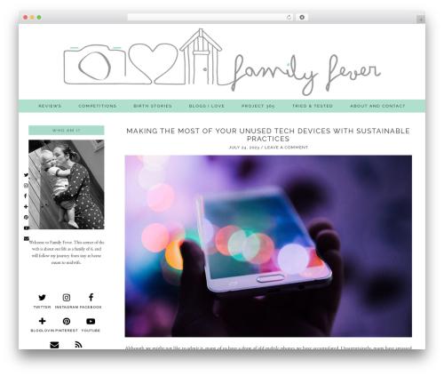 Theme WordPress Evelyn Rose (pipdig) - myfamilyfever.co.uk