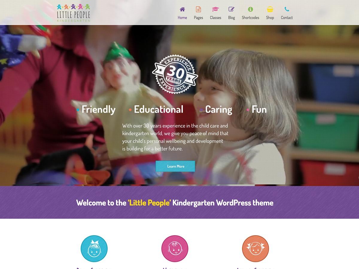 Theme WordPress WP Kindergarten