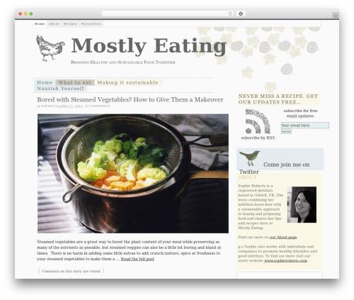 Thesis food WordPress theme - mostlyeating.com