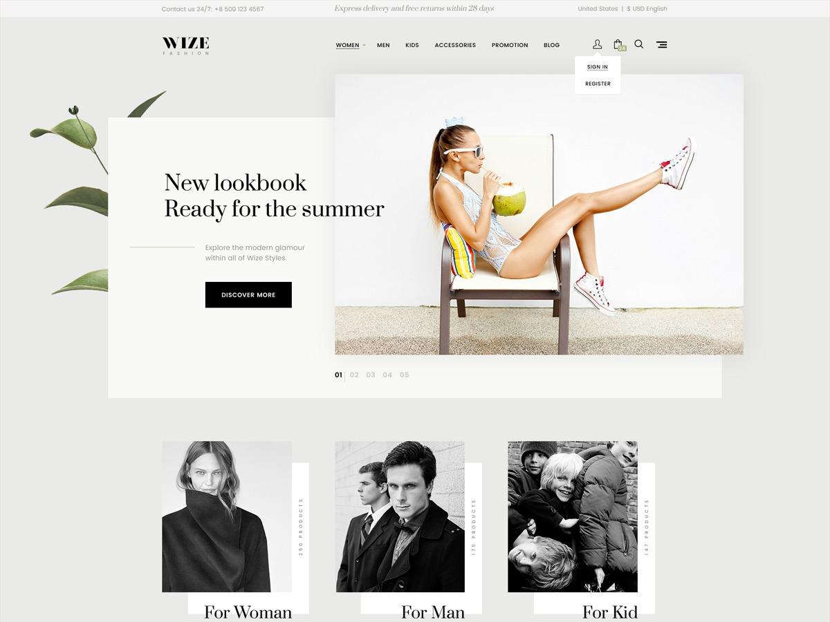 Wizestore - Child WordPress shopping theme