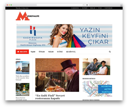 WordPress template Bloom - moskovalife.com