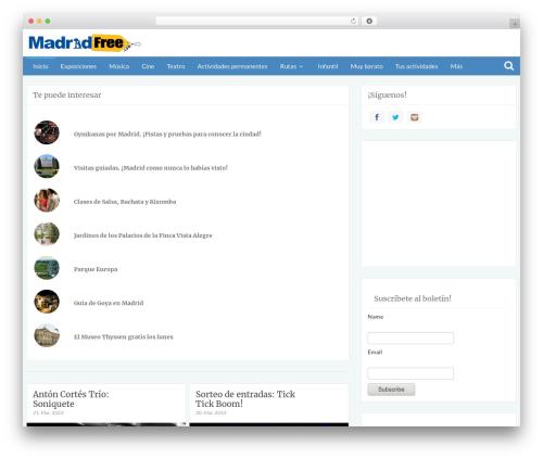 WordPress theme Bliss by Bluthemes - madridfree.com