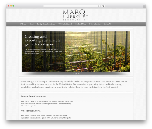 WordPress theme Modular - marqenergie.com