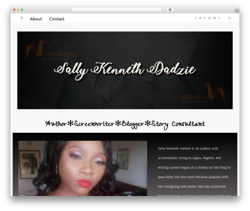 WordPress website template Smart Blog - moskedapages.com