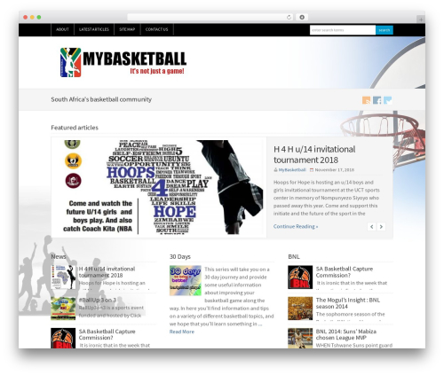 WP-Brilliance best WordPress magazine theme - mybasketball.co.za
