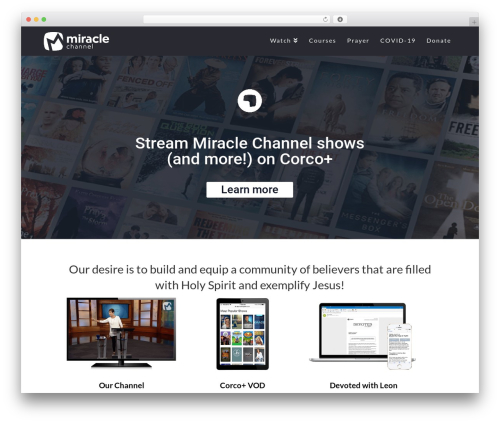 WP theme Pro - miraclechannel.ca