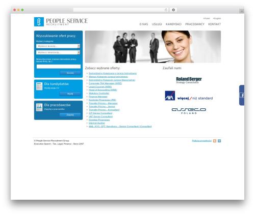 Arras template WordPress - peopleservice.pl