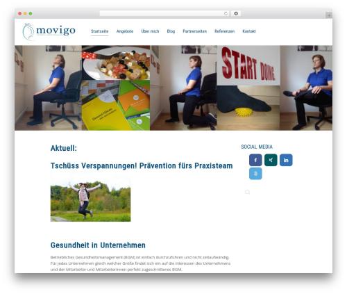 Chester WordPress website template - movigo.info