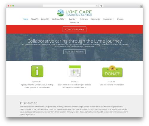 Divi top WordPress theme - lymecenter.org
