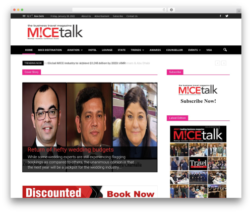 Newspaper WordPress news template - micetalk.com