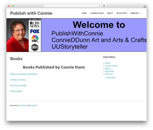 Poseidon WordPress template free - publishwithconnie.com/books