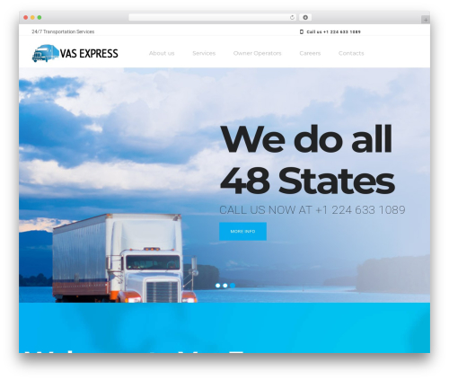 WordPress theme Roadway - vasexpress.com