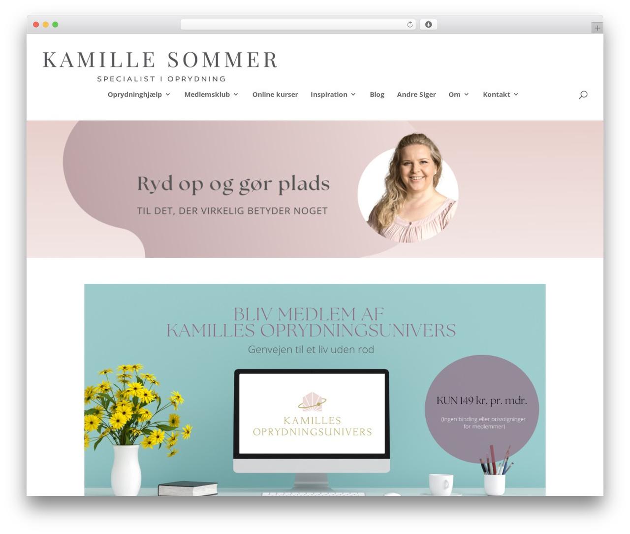Divi premium WordPress theme - oprydningskonsulenten.dk