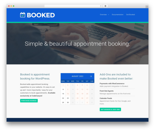 Eden WordPress theme design - getbooked.io
