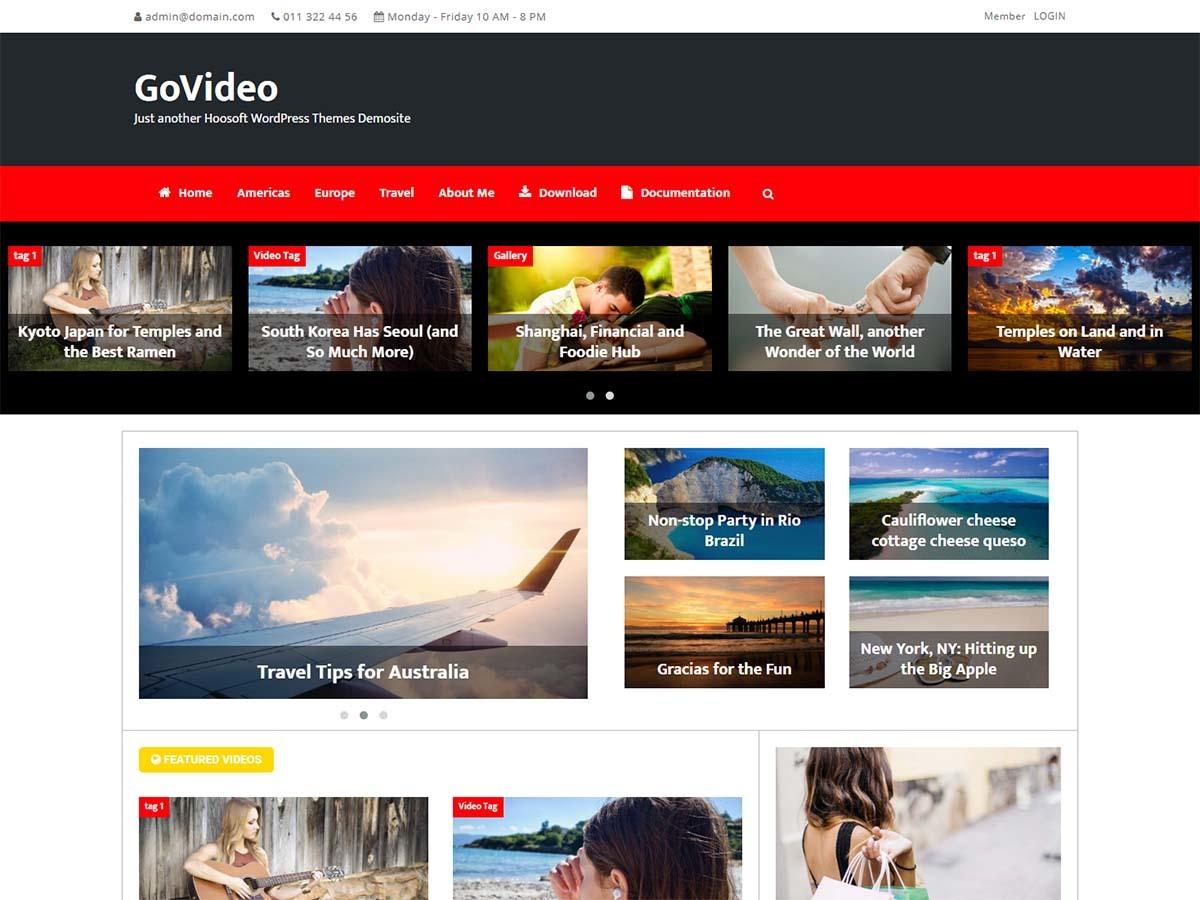 Govideo WordPress video template