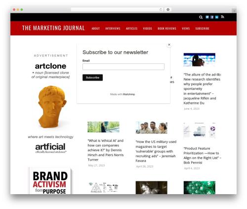 Magazine best WordPress magazine theme - marketingjournal.org