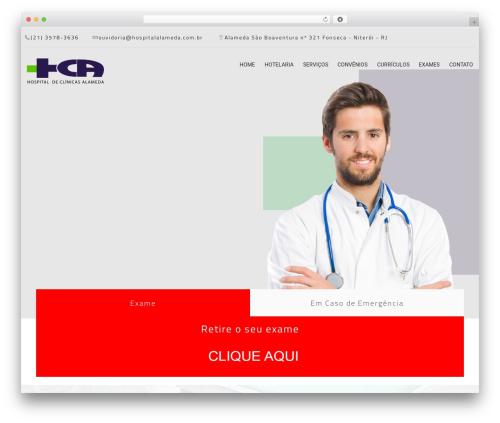 MedCare premium WordPress theme - hospitalalameda.com.br