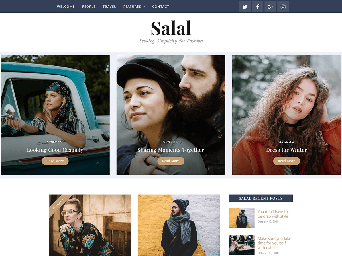 Salal WordPress template for photographers