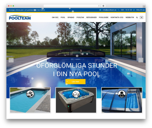 SwimmingPool WordPress theme - poolteam.se
