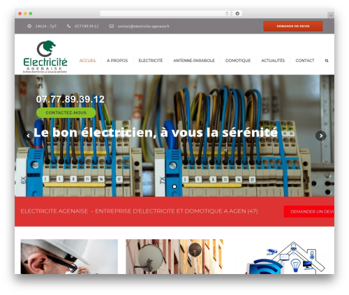 Theme WordPress constructo (shared on wplocker.com) - electricite-agenaise.fr