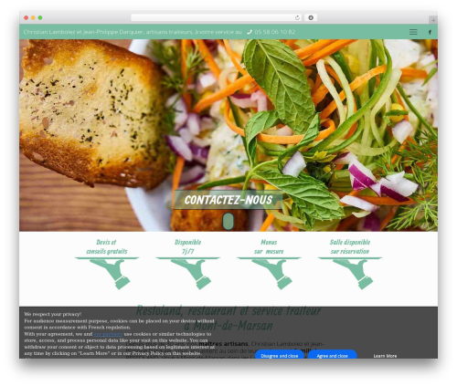 Betheme best restaurant WordPress theme - lambolez-traiteur.com