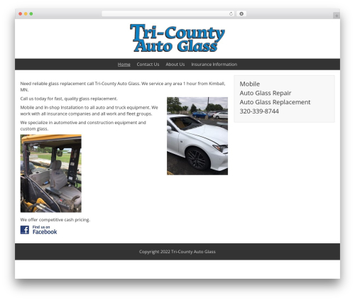 BlueGray template WordPress free - tri-countyautoglass.com