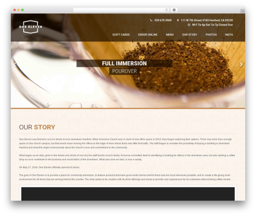 Coffee Pro WP template - oneeleven.coffee