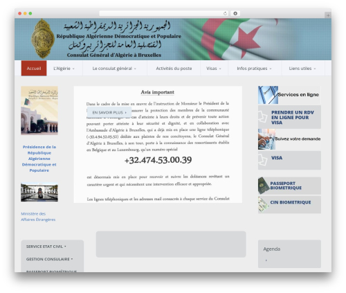 Template WordPress Candidate - consulatalgerie.be