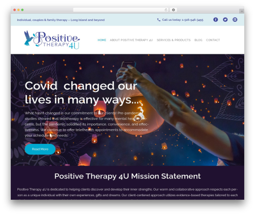 WordPress website template counselor - positivetherapy4u.com