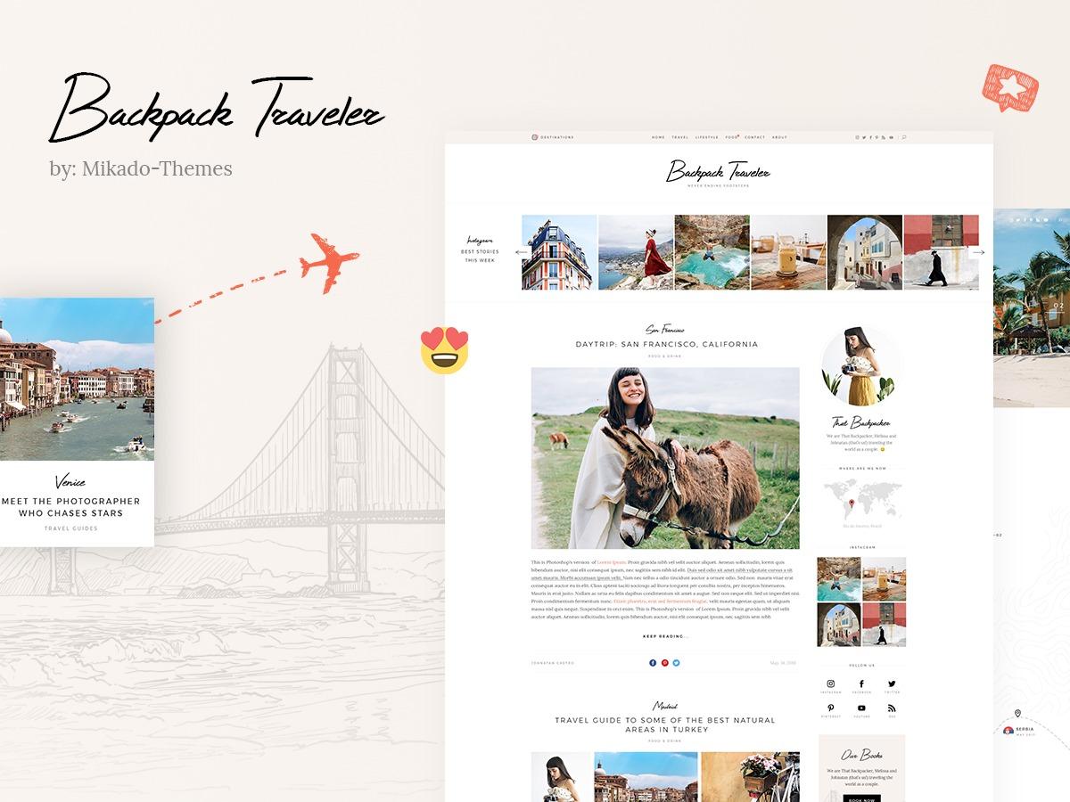 BackpackTraveler WordPress blog theme