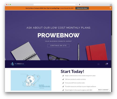 Betheme company WordPress theme - prowebnow.net