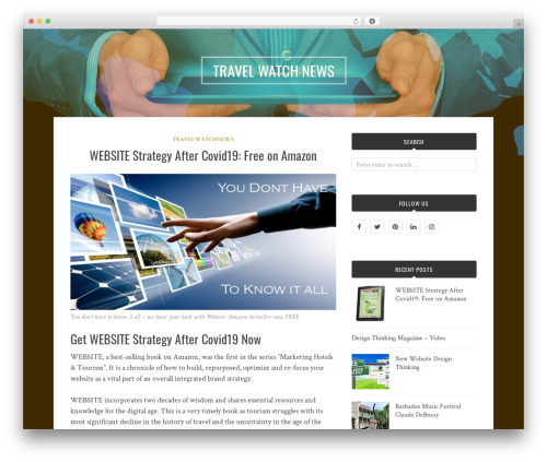 Bulan WordPress website template - travelwatchnews.com