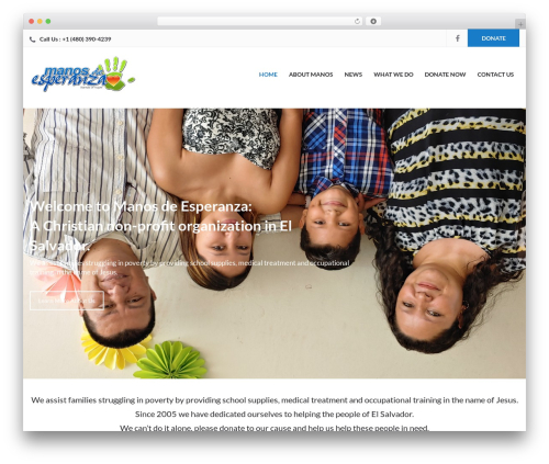 Charity Child Theme best WordPress theme - helpingelsalvador.org